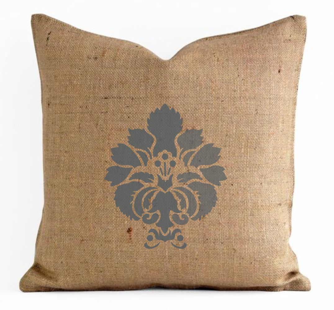 Damask Motif Craft Stencil