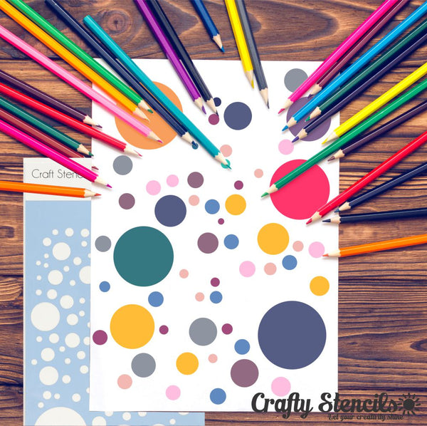Bubbles Craft Stencil by Crafty Stencils