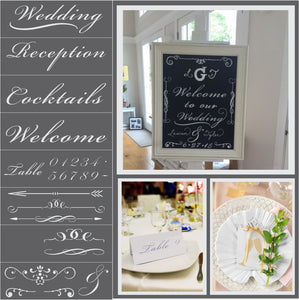 Ballroom Wedding Stencil Kit by Crafty Stencils