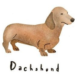 Dachshund Greeting Card Craft Stencil