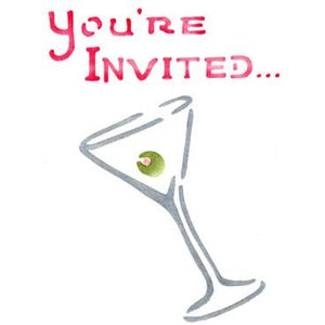 Martini Invitation Greeting Card Craft Stencil