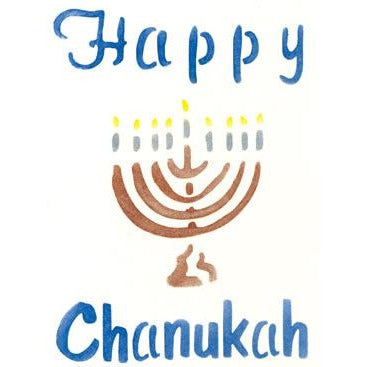 Hannukah Greeting Card Craft Stencil