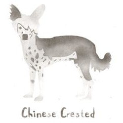 Chinese Crested Greeting Card Craft Stencil