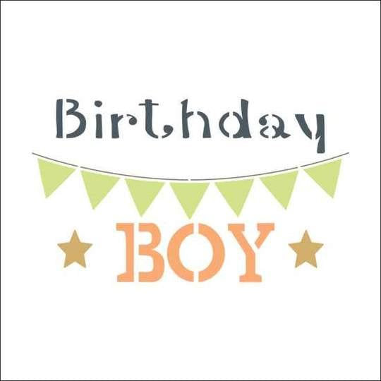 Birthday Boy Craft Stencil