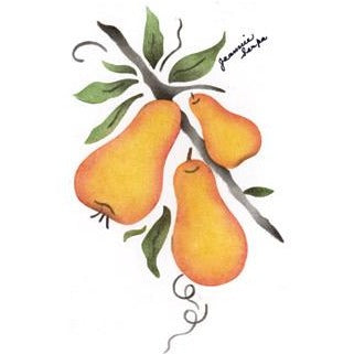 Pears Greeting Card Craft Stencil
