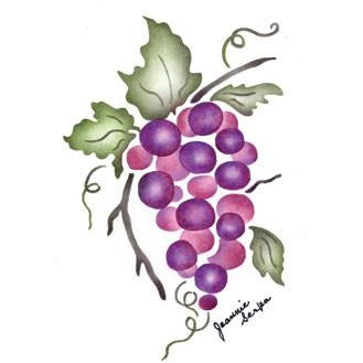 Grapes Greeting Card Craft Stencil