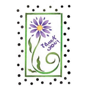 Thank You (Flower) Greeting Card by Crafty Stencils