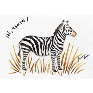 Zebra Greeting Card Stencil