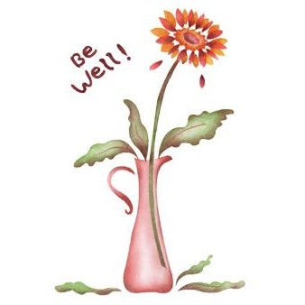 Gerbera Greeting Card Craft Stencil by Crafty Stencils