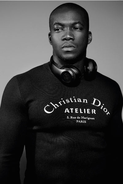 Musician Jacob Banks wears Christian Doir, Autumn Winter 2017 Man about Town