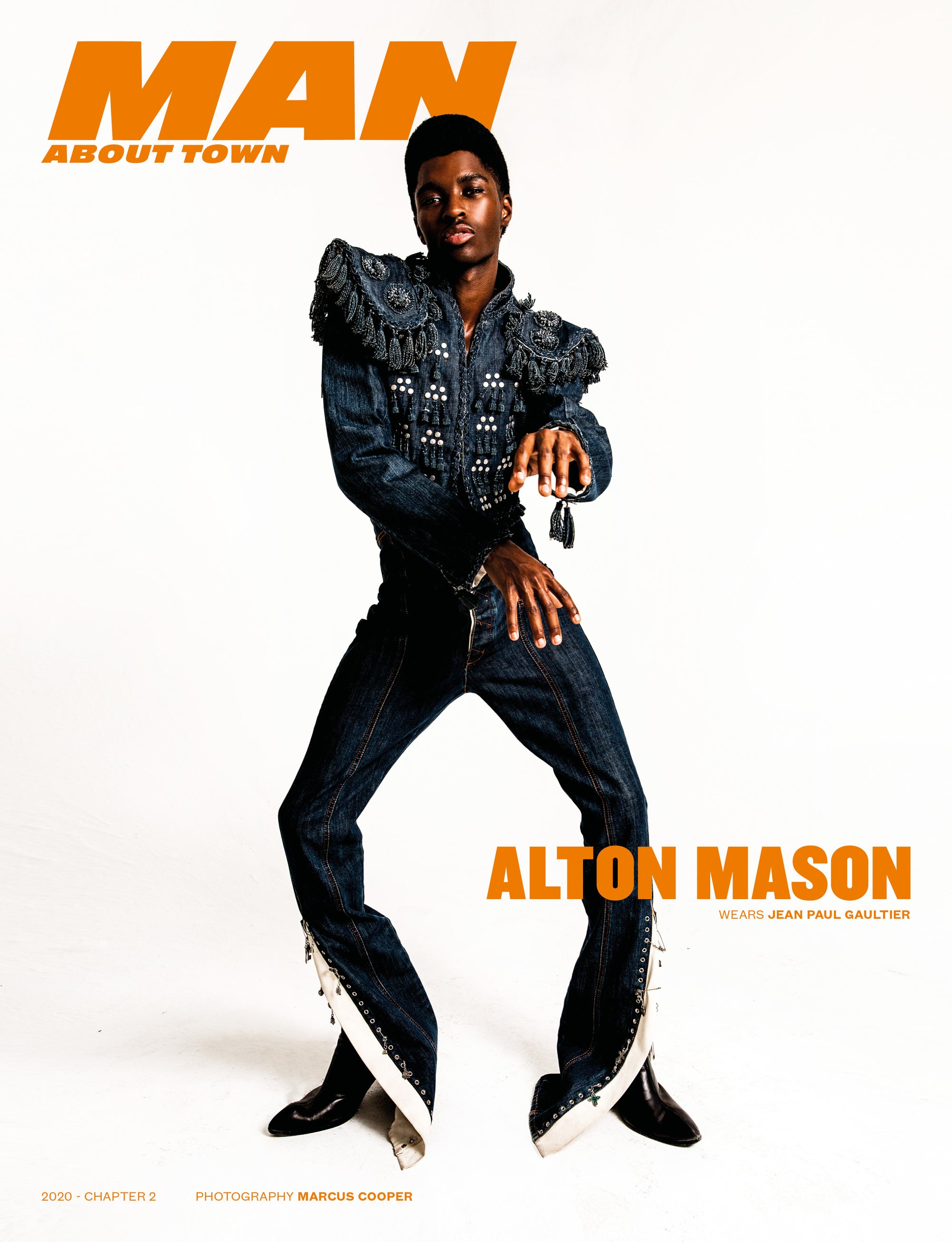 ALTON MASON wears Jean Paul Gaultier covers Man About Town 2020, Chapter II