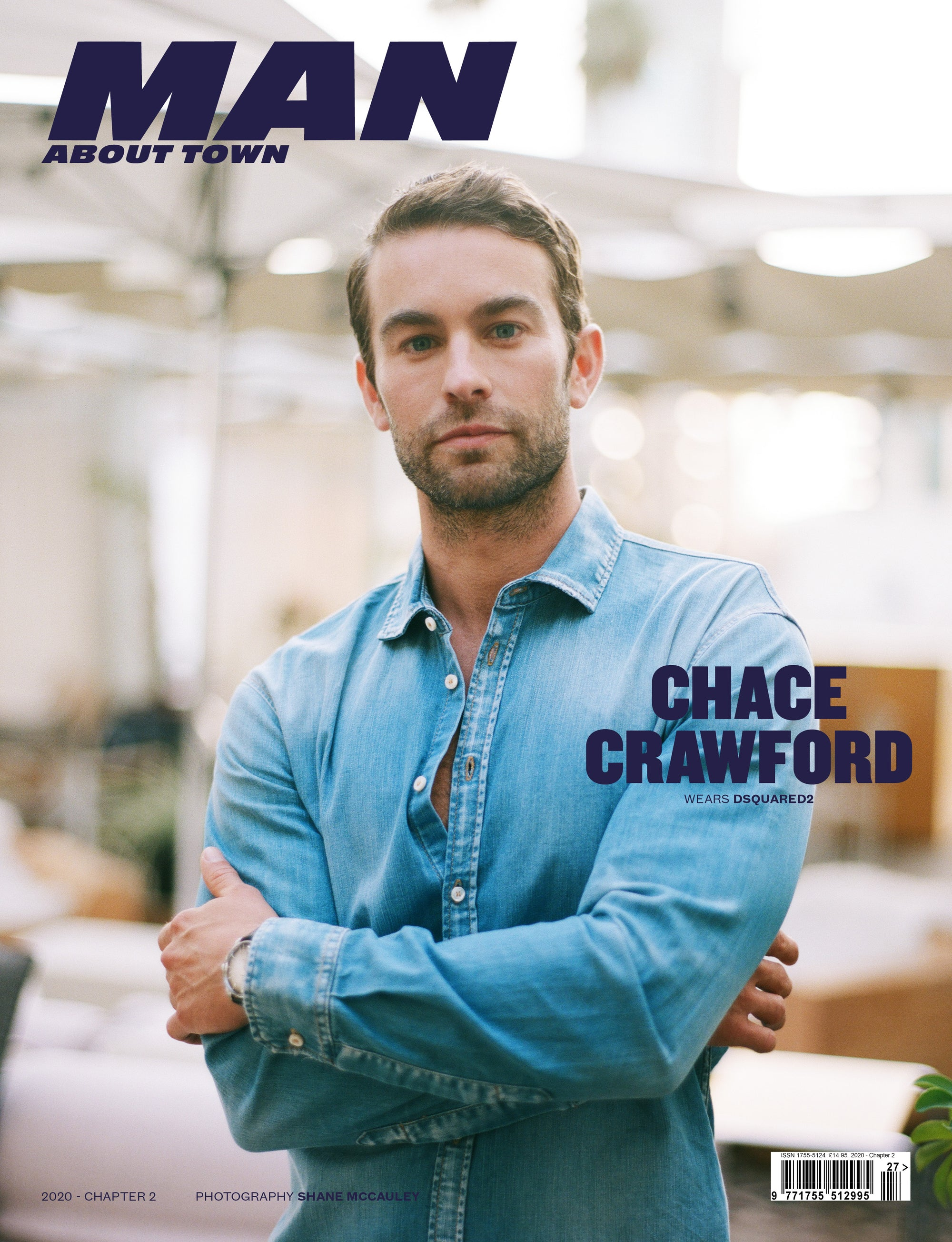 CHACE CRAWFORD wears DSQUARED2 covers Man About Town 2020, Chapter II