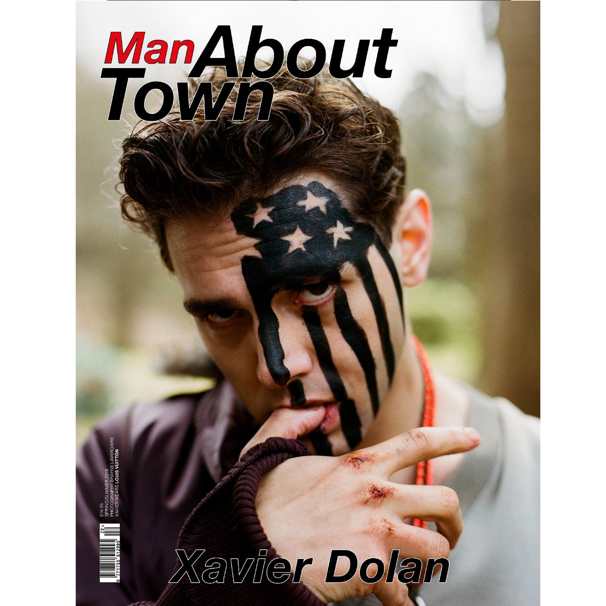 MAN ABOUT TOWN MAGAZINE SS18 XAVIER DOLAN COVER