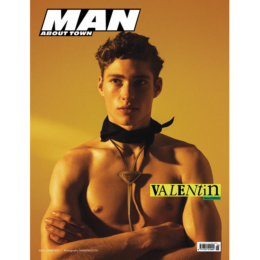 VALENTIN in Prada covers Man About Town 2020, Chapter I