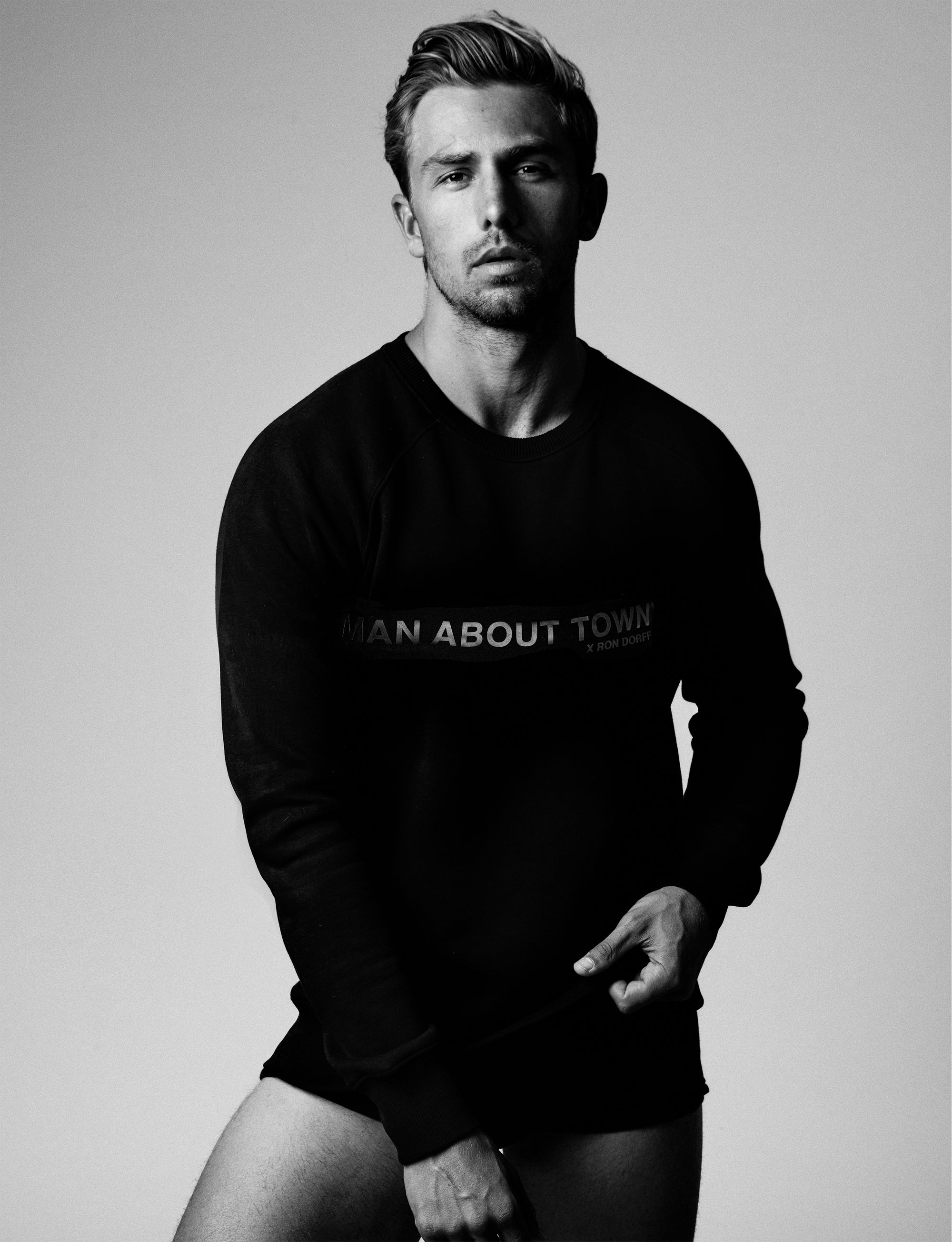 Limited Edition Man About Town Sweatshirt - Black on Black
