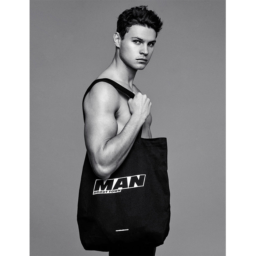 Tote Bag Man About Town - Black