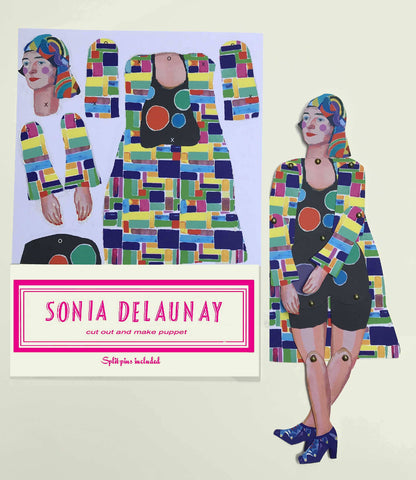 Sonia Delaunay Cut and Make Puppet