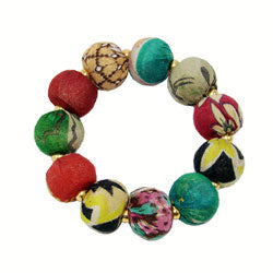 Kantha Bauble Bracelet from World Finds