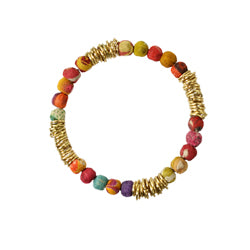 Ringed Loop Kantha Bracelet from World Finds