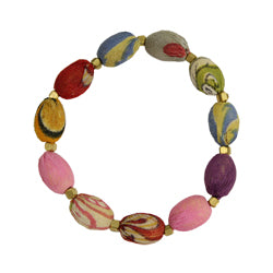 Kantha Oval Bracelet from World Finds