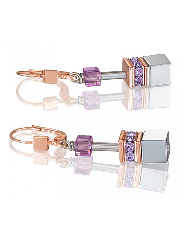 Mauve and Silver Earrings