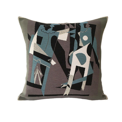 Harlequin & Woman in Necklace | Picasso Pillow