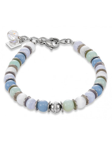 Ice Blue and Silver Bracelet