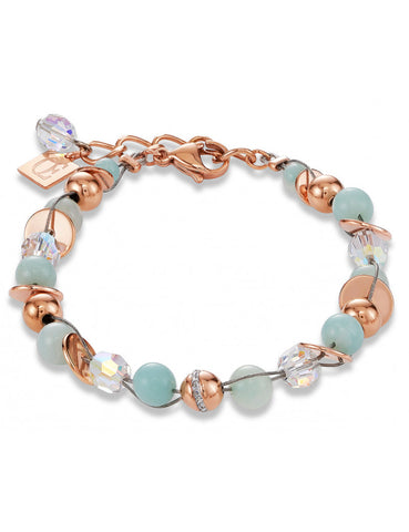 Lost at Seafoam and Green Bracelet