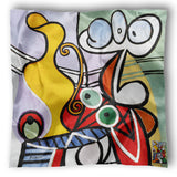 Picasso - Great still life at the pedestal Silk Scarf