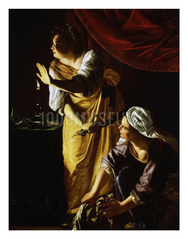 Judith and Her Maidservant with the Head of Holofernes by Artemisia Gentileschi | Print