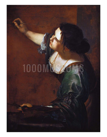 Self-portrait as the Allegory of Painting by Artemisia Gentileschi | Print