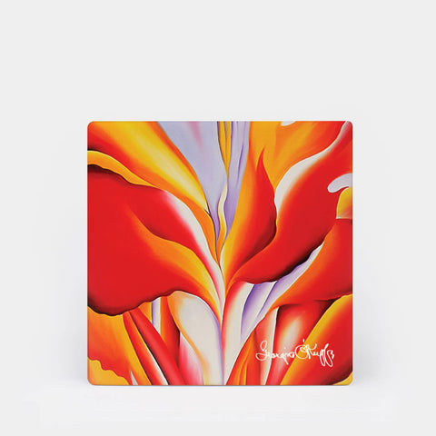 Georgia O'Keeffe Red Canna Coaster