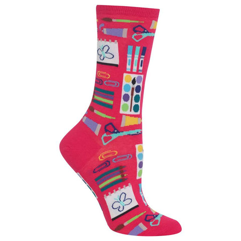 Women's Art Supplies Socks | Pink