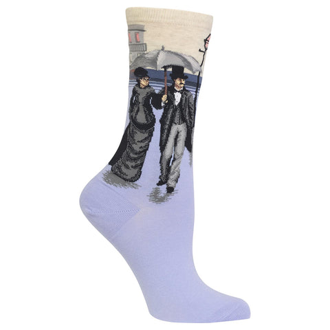 Women's Caillebotte's Paris Street: A Rainy-Day Socks
