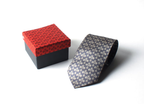 Tie Inspired by 14th Century Italian Textile