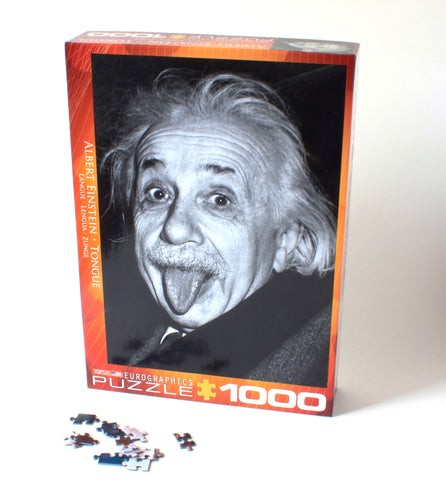 Albert Einstein Tongue Puzzle