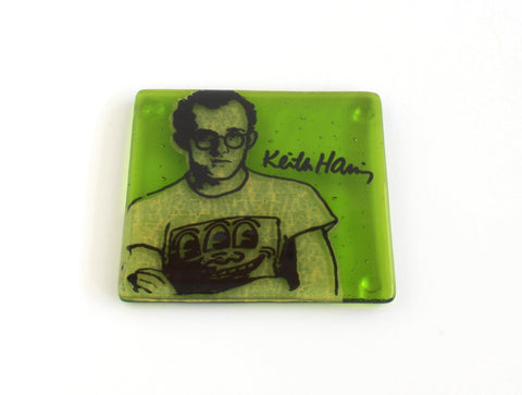 Keith Haring Glass Coaster