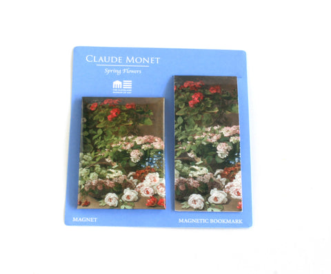 Monet's Spring Flowers Magnet and Bookmark Set