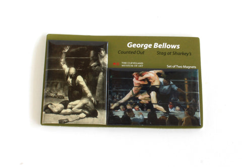 George Bellows Magnet Set | Counted Out, Stag at Sharkey's