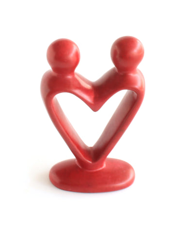 Lover Soapstone Sculpture | Red