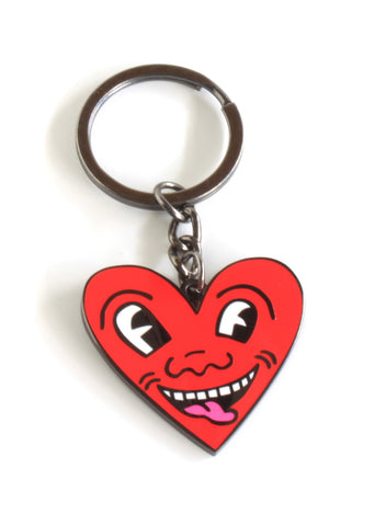 Keith Harring Red Heart Keychain
