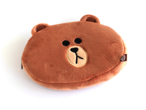 Brown (Bear) Plush Pencil Case