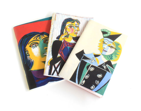 Picasso Portraits (Women) 3 Small Notebook Set