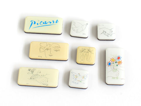 Picasso Line Drawings Mini Magnet Set