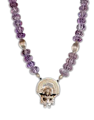 Melon Carved Amethyst Necklace | Maria Pujana Designs