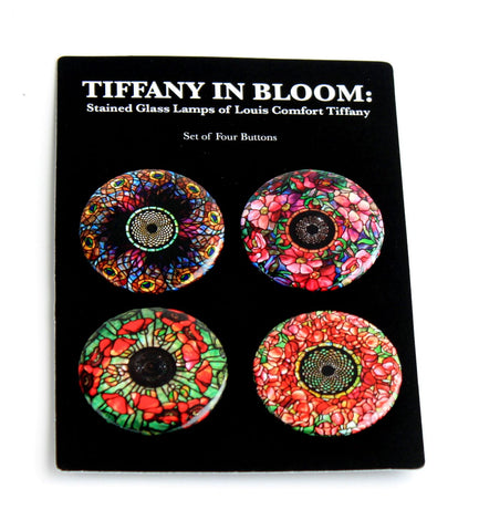 Tiffany in Bloom Set of Four Buttons