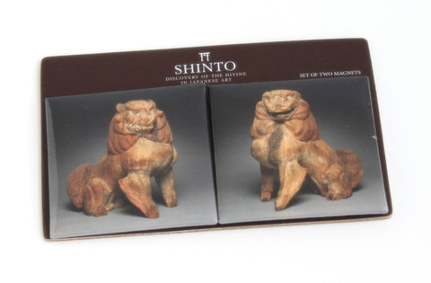 Shinto Lion and Koma-inu Magnet Set