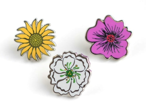 Georgia O'Keeffe Inspired Lapel Pins