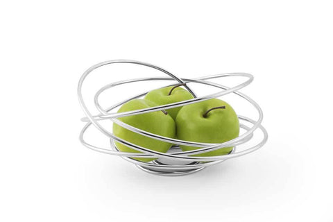Fruit Loop Chrome Steel Fruit Bowl