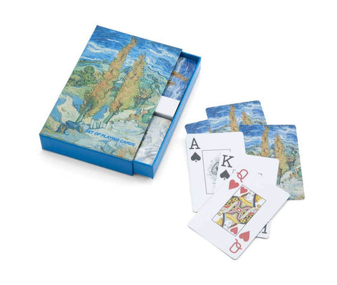 The Poplars at Saint-Rémy Playing Cards-Double Deck